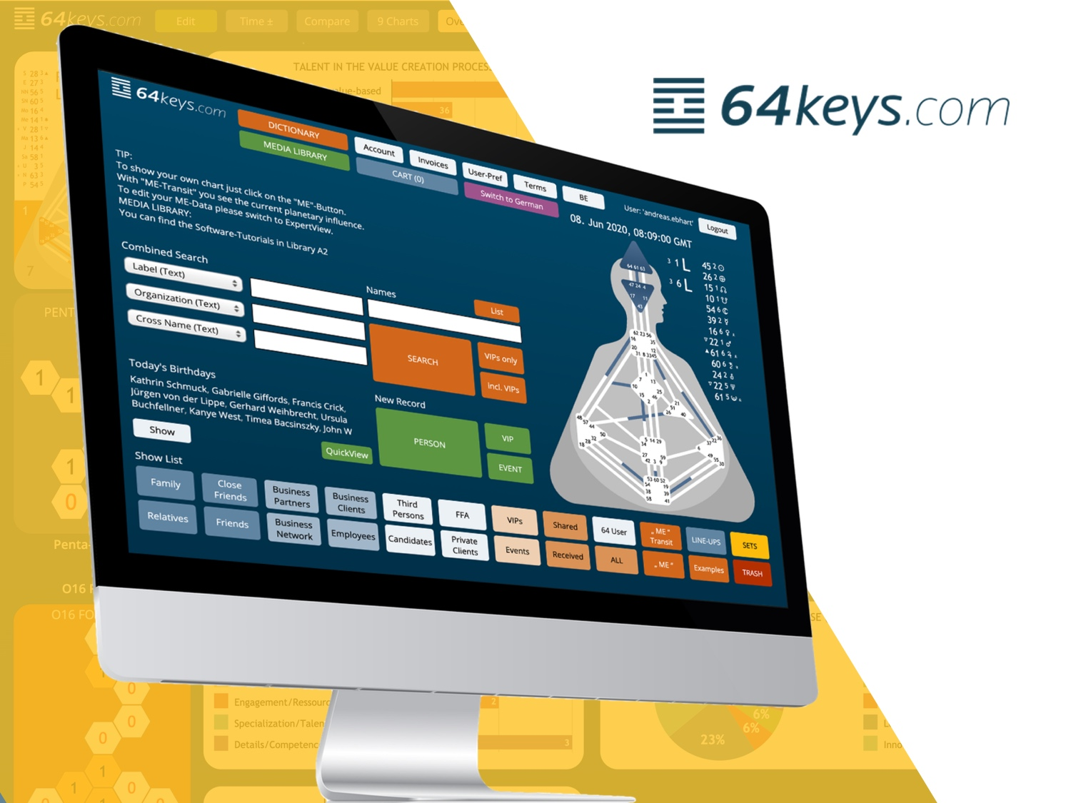 64keys Software for Human Design Students and Professionals